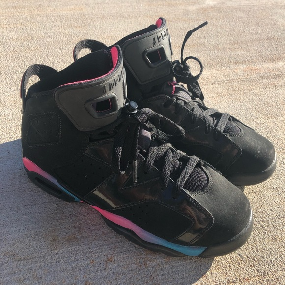 official photos cc13f 72e0a Jordan Shoes - Air Jordan Retro 6 - Black Pink Flash-Marina Blue